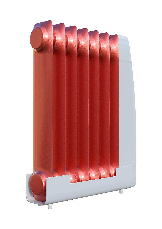 取暖器高光红色粉末喷涂