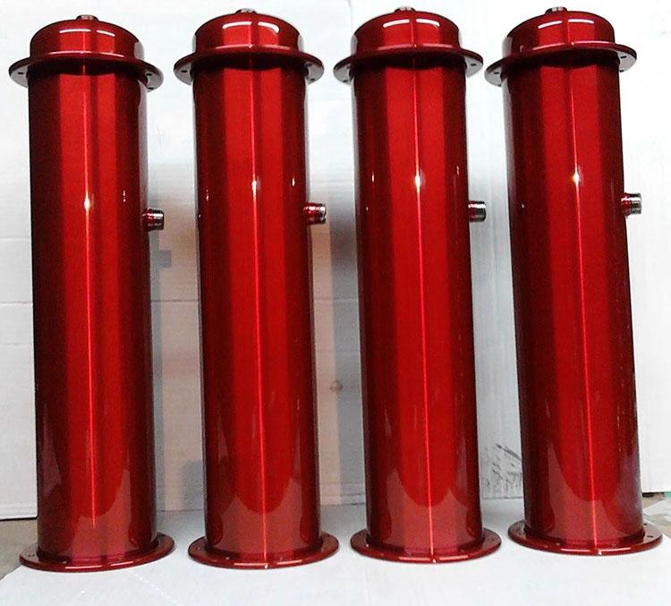 透明宝红色喷油喷粉喷塑加工