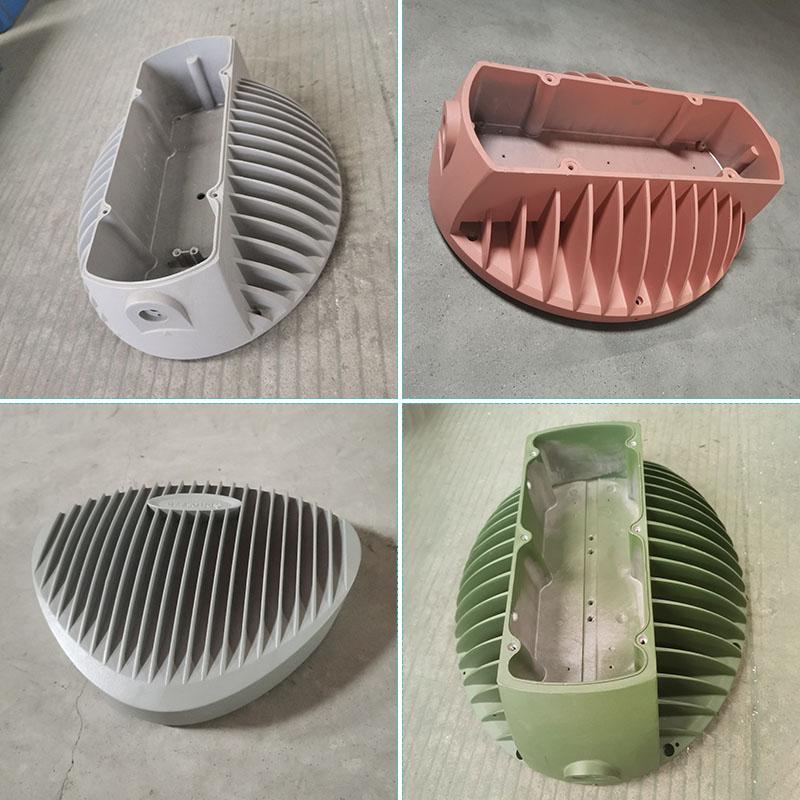 压铸铝灯壳|静电喷粉加工