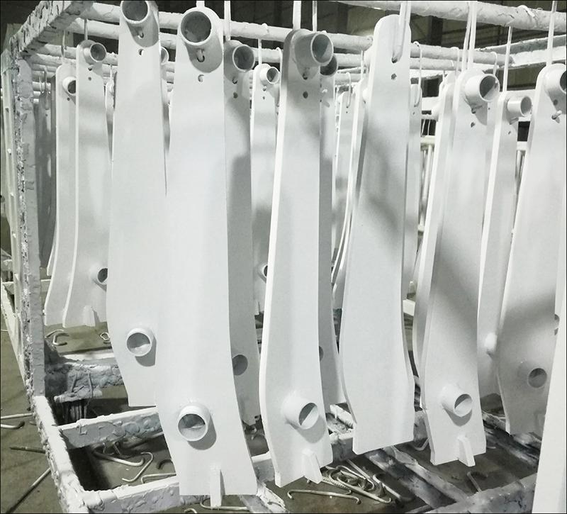 栏杆护栏静电喷涂厂