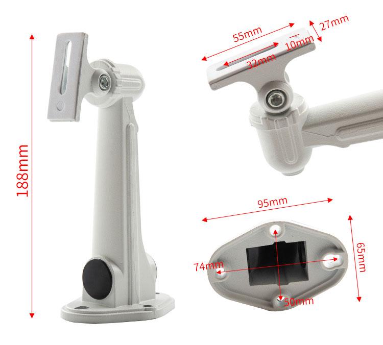 监控一体支架厂家,监控支架电源1套12v2a摄像头防雨藏线监控器材安防配件架子适配器7