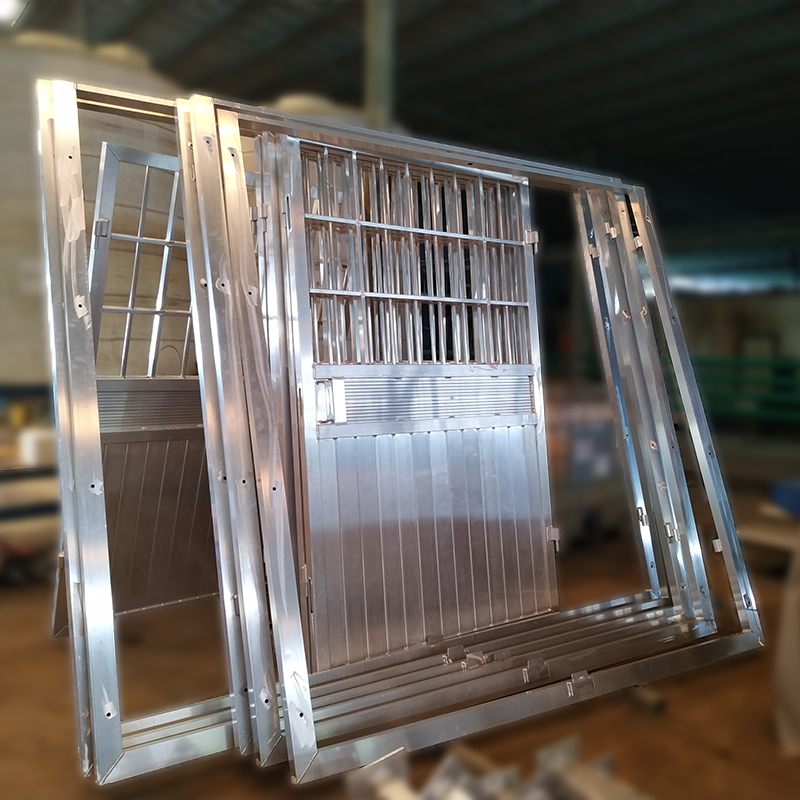 铝门框喷粉喷塑
