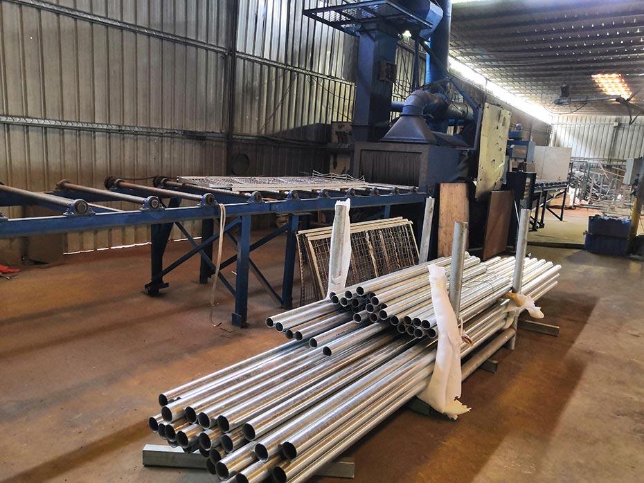 桥梁护栏生产厂,上线流水线