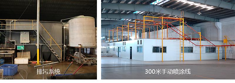 300米手动喷涂线+排污系统