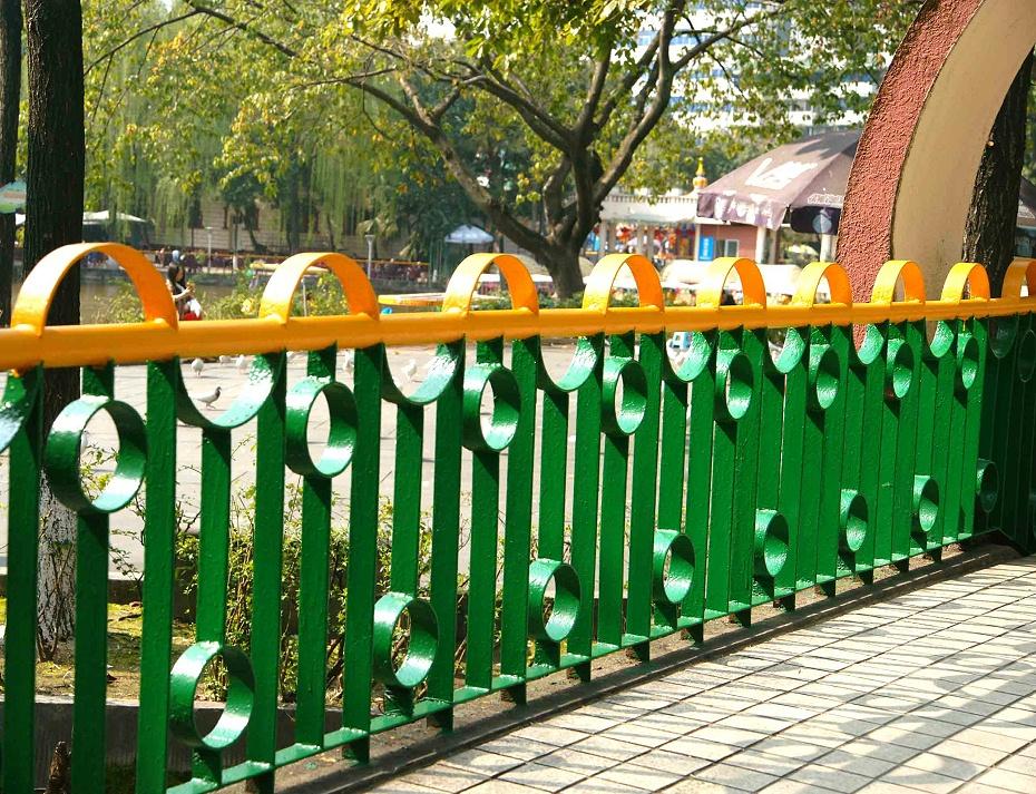 公园护栏双色户外粉末喷涂加工