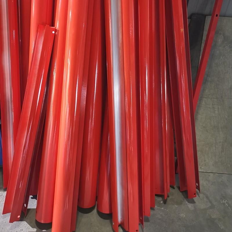 铝型条喷粉-透明红